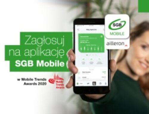 Zagłosuj na aplikację mobilną SGB Mobile w konkursie Mobile Trends Awards!