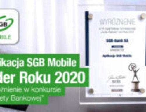 Aplikacja SGB Mobile – Lider Roku 2020!